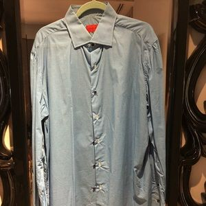 Men's Isaia button down shirt, size 44, 17.5 neck